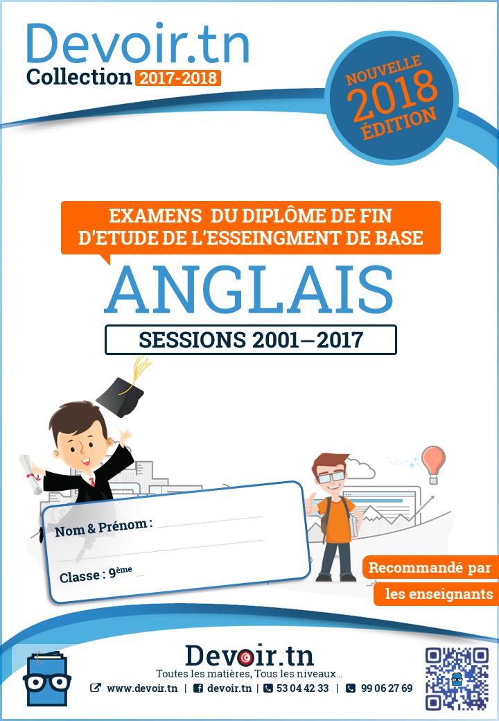 Anglais — Sujets Corrigés 2001—2017 — Concours 9ème