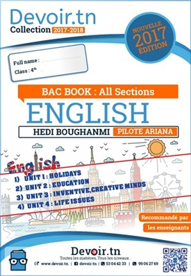 ENGLISH — BAC BOOK ( All Sections: Arts, Maths, Sciences, Economy )