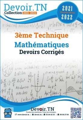 3ème Technique Devoirs Corrigés de mathématiques