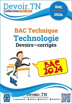 Bac technique Devoirs corrigés  technologie