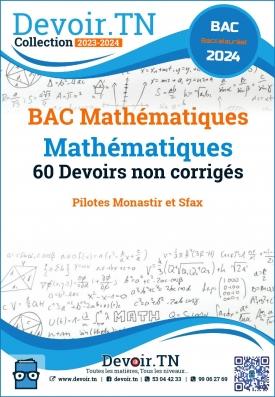 60 Devoirs  Mathématiques BAC Math pour prof