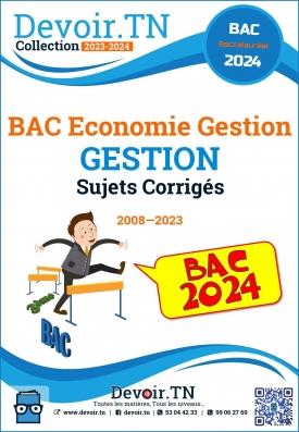 Gestion—Sujets Corrigés 2008—2019