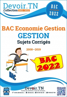 Gestion—Sujets Corrigés 2008—2020