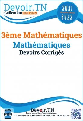 3 ème Math ,Devoirs Corrigés de Mathématiques