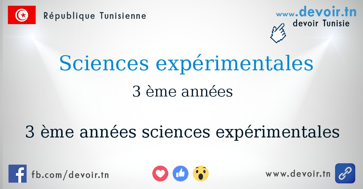 3me sciences exprimentales devoirtn - Resume Science 9eme Annee